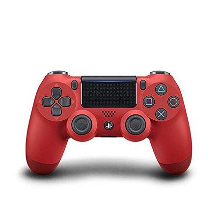 Controle ps4 slim vermelho ( dualshock 4 slim )