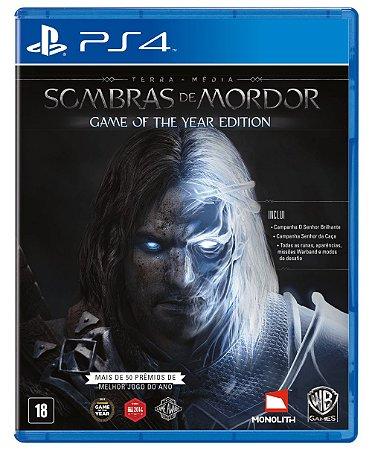 Terra Média Sombras de Mordor  Game of the Year Edition PS4