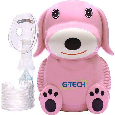 Inalador e Nebulizador G-TECH NEBDOG - Pink