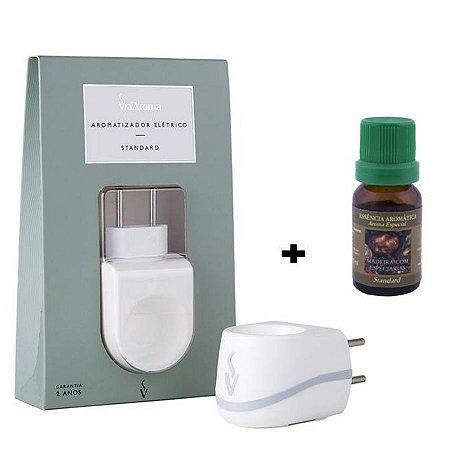 Aromatizador Elétrico+Essência Madeira com Especiarias-10 ml
