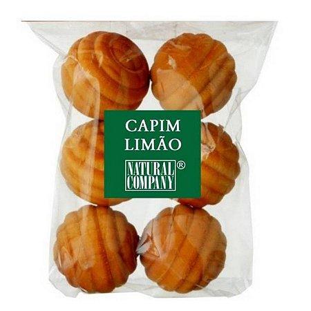 Sachê Perfumado Bolinha de Madeira Capim Limão- 6 unid.