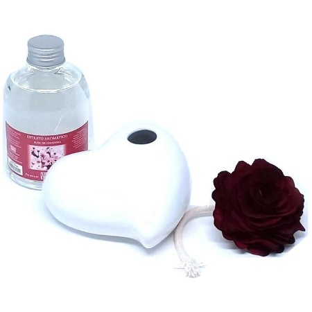 Difusor de Aromas All Love-Cerâmica Branca + Extrato 315 ml.