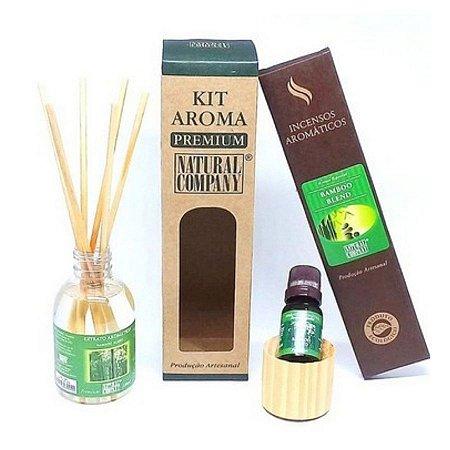 Kit Aroma Premium Bamboo Blend - Nota de Verão - 4 Produtos
