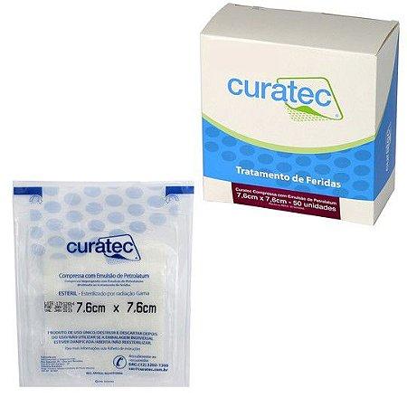 Curatec Compressa com Emulsão de Petrolatum - Curativo não aderente que estimula a cicatrização