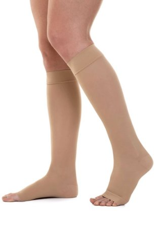 Meia Jobst Ultra Sheer, 30-40 mmHg Panturrilha 3/4, cor: Natural