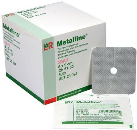Curativo Esteril Absorvente METALLINE p/ TRAQUEOSTOMIA
