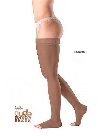 Meia Sigvaris Ever Sheer Nude, 20-30 mmHg, 7/8 Cor: Canela