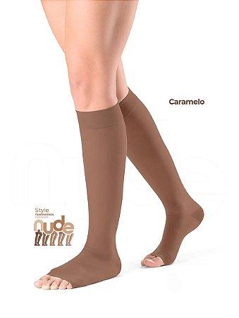Meia Sigvaris Ever Sheer Nude, 20-30 mmHg, 3/4 Cor: Caramelo