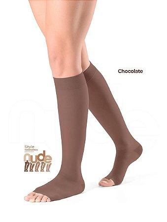 Meia Sigvaris Ever Sheer Nude, 20-30 mmHg, 3/4 Cor: Chocolate
