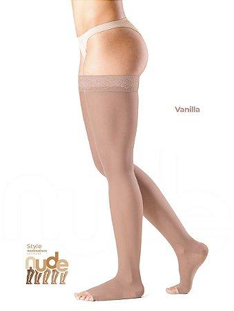 Meia Sigvaris Ever Sheer Nude, 20-30 mmHg, 7/8 Cor: Vanila