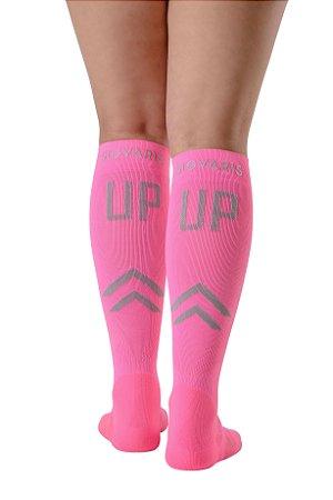 Meia Sigvaris UP25 para Esportes, cor: Pink Neon