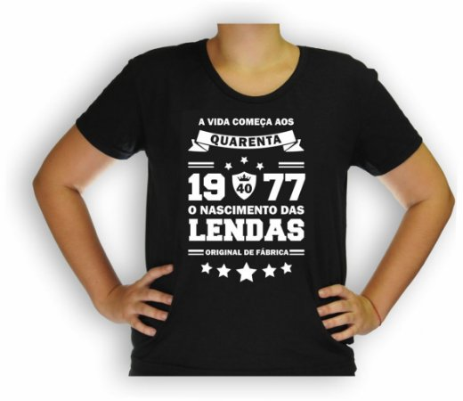 Camiseta 1977 Lenda Baby Look