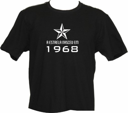 Camiseta Lenda 1968 estrela