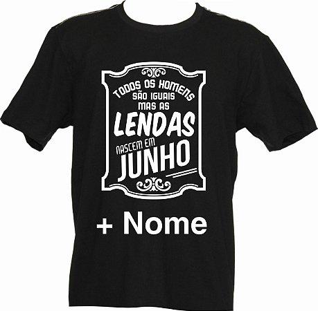 Camiseta Homens de JUNHO com Seu Nome