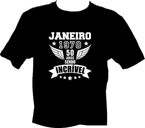 Camiseta Janeiro 1970 Incrível