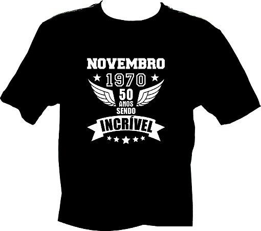 Camiseta Novembro 1970 incrível