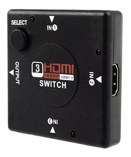 Switch Adaptador Hdmi 3 In 1 1080p Knup Kp-3456