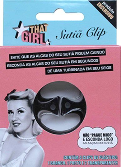 THAT GIRL SUTIÃ CLIP C/4 UNIDADES