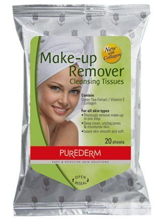 PUREDERM Make-up Remover c/20 unidades