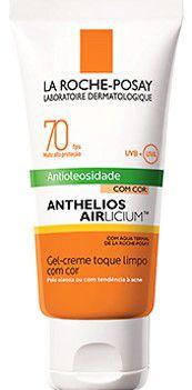 LA ROCHE-POSAY Anthelios Airlicium Antioleosidade Com Cor FPS70 Gel Creme Toque Limpo Cor 50g