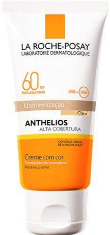 LA ROCHE-POSAY Anthelios Alta Cobertura Uniformização Clara FPS60 Creme com Cor 50ml