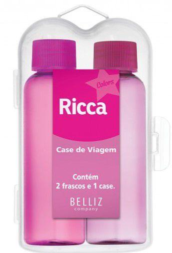 BELLIZ RICCA Case de Viagem Colors c/2 frascos 60ml e 1 case