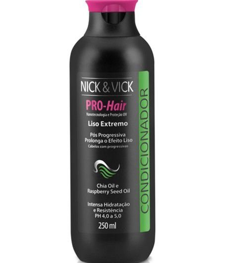 NICK & VICK PRO HAIR LISO EXTREMO CONDICIONADOR 250ML