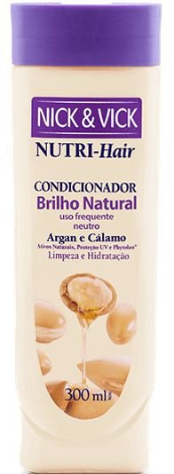 NICK & VICK NUTRI-HAIR BRILHO NATURAL CONDICIONADOR 300ML