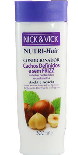 NICK & VICK NUTRI HAIR CACHOS DEFINIDOS E SEM FRIZZ CONDICIONADOR 300ML
