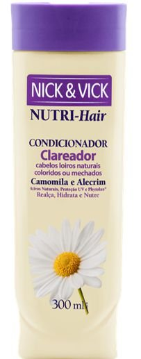 NICK & VICK NUTRI HAIR CLAREADOR CONDICIONADOR 300ML