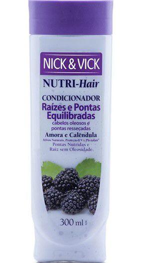 NICK & VICK NUTRI-HAIR RAIZES E PONTAS EQUILIBRADAS CONDICIONADOR 300ML