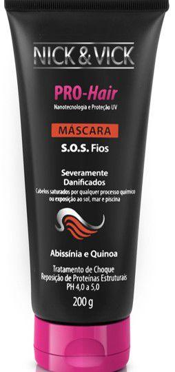 NICK & VICK PRO HAIR S.O.S. FIOS MÁSCARA 200ML