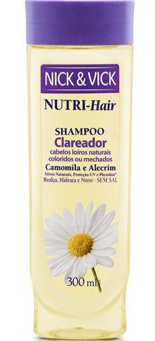 NICK & VICK NUTRI HAIR CLAREADOR SHAMPOO 300ML