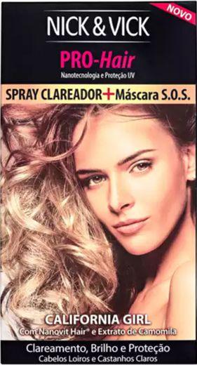 NICK & VICK CALIFORNIA GIRL KIT SPRAY CLAREADOR + MÁSCARA S.O.S