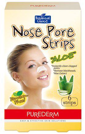PUREDERM Nose Pore Strips Aloe c/6 unidades