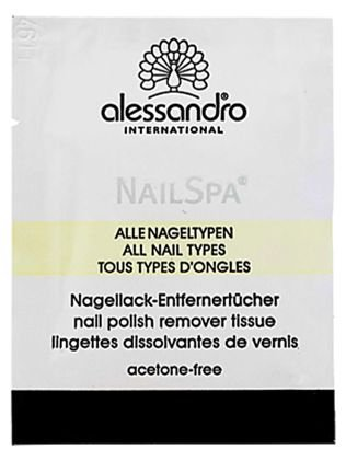 ALESSANDRO INTERNATIONAL NAIL SPA NAIL POLISH REMOVER TISSUE C/10 SACHÊS