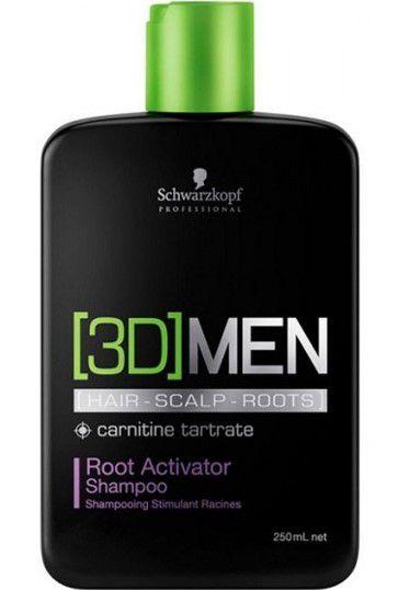 SCHWARZKOPF 3D MEN Shampoo Ativador de Raízes 250ml