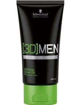 SCHWARZKOPF 3D MEN Strong Hold Gel 150ml Fixação Forte
