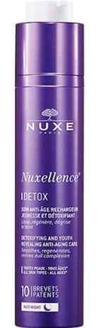 NUXE Nuxellence Detox Tratamento Antienvelhecimento Revelador De Juventude e Desintoxicante Noite 50ml