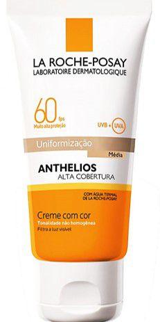 LA ROCHE-POSAY Anthelios Alta Cobertura Uniformização Média FPS60 Creme com Cor 50ml