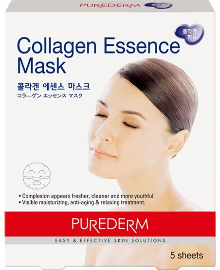 PUREDERM COLLAGEN ESSENCE MASK C/5 - MÁSCARA FACIAL