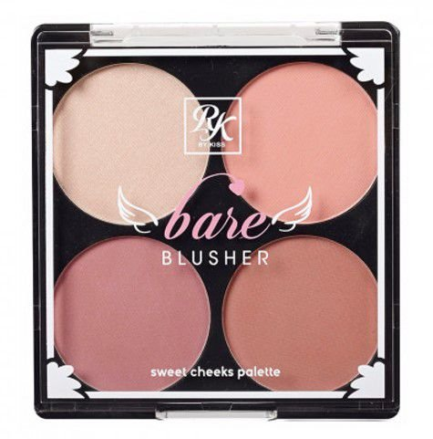 KISS NEW YORK RK Bare Blusher Sweet Cheeks Palette Baring Bare