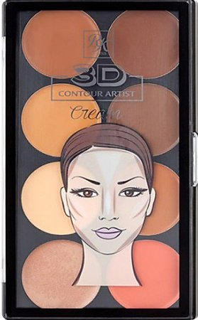 KISS NEW YORK RK 3D Contour Artist Cream Palette Light Medium