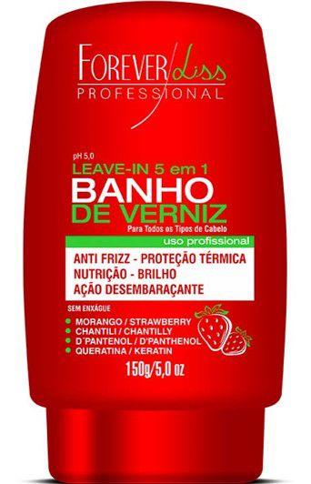 FOREVER LISS Banho de Verniz Morango Leave-in 150g
