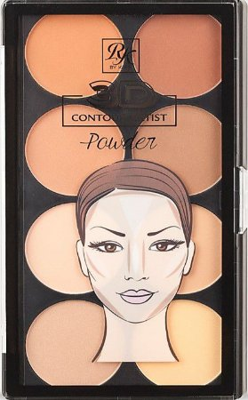 KISS NEW YORK RK 3D Countor Artist Powder Palette Light Medium