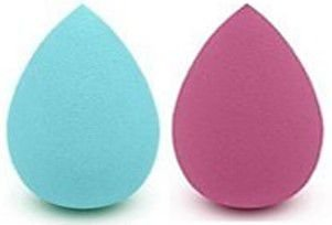 REBECCA ACESSÓRIOS Makeup Sponge Blusher Size Duo Verde e Rosa
