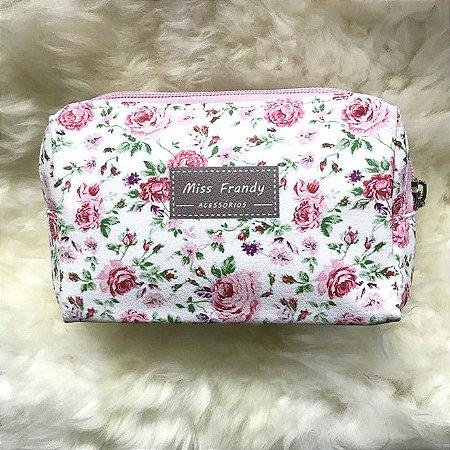 MISS FRANDY Necessaire Pequena Flor Rosas P16 0436