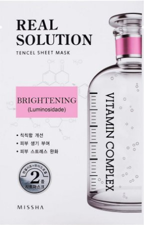 MISSHA Real Solution Tencel Sheet Mask Brightening  - Iluminosidade