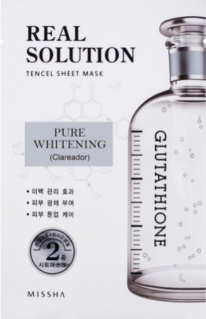 MISSHA Real Solution Tencel Sheet Mask Pure Whitening - Clareador