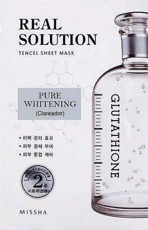 MISSHA Real Solution Tencel Sheet Mask Pure Whitening - Clareador